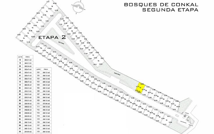 Foto de terreno habitacional en venta en  , conkal, conkal, yucat?n, 1949166 No. 01