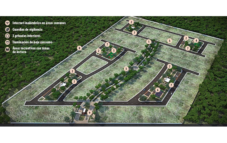 Foto de terreno habitacional en venta en  , conkal, conkal, yucatán, 1991642 No. 07