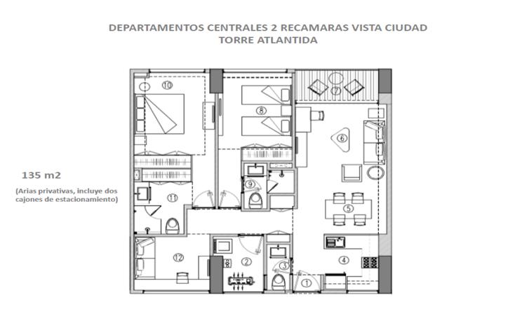 Foto de departamento en venta en, cordemex, mérida, yucatán, 1373855 no 09