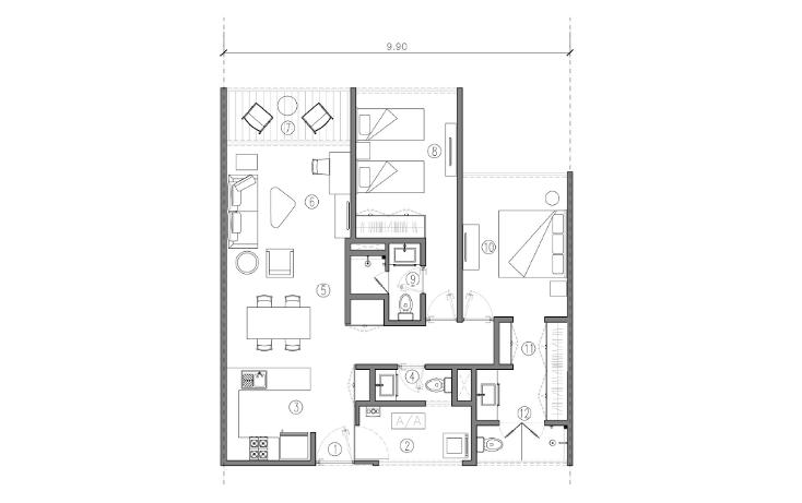 Foto de casa en venta en  , cordemex, mérida, yucatán, 1435515 No. 12