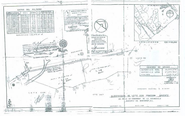 Foto de terreno habitacional en venta en, cortijo del río 1 sector, monterrey, nuevo león, 1808322 no 01