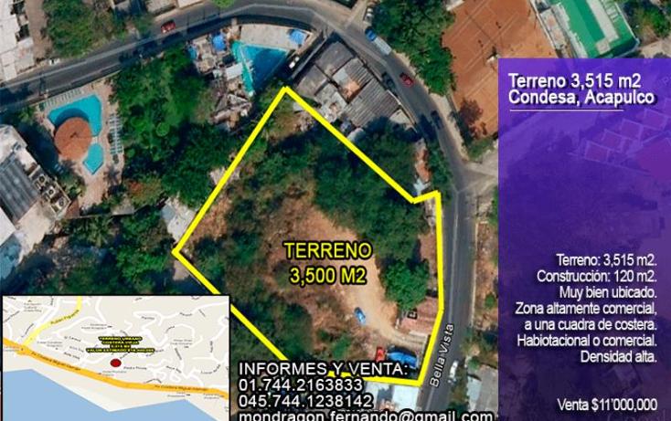Foto de terreno habitacional en venta en costera vieja waikiki 40, condesa, acapulco de ju?rez, guerrero, 992741 No. 01