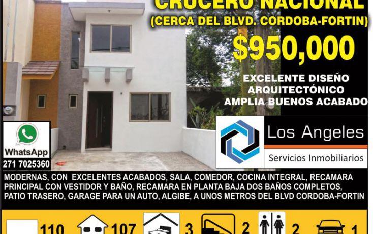 Foto de casa en venta en, crucero nacional, fortín, veracruz, 1529298 no 01