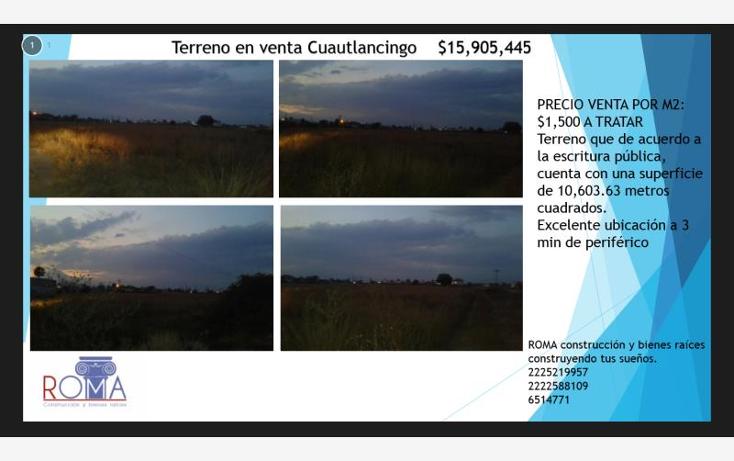 Foto de terreno habitacional en venta en  , cuautlancingo, cuautlancingo, puebla, 1568846 No. 01