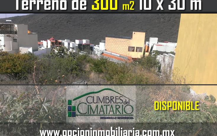 Foto de terreno habitacional en venta en  , cumbres del cimatario, huimilpan, quer?taro, 1853994 No. 01