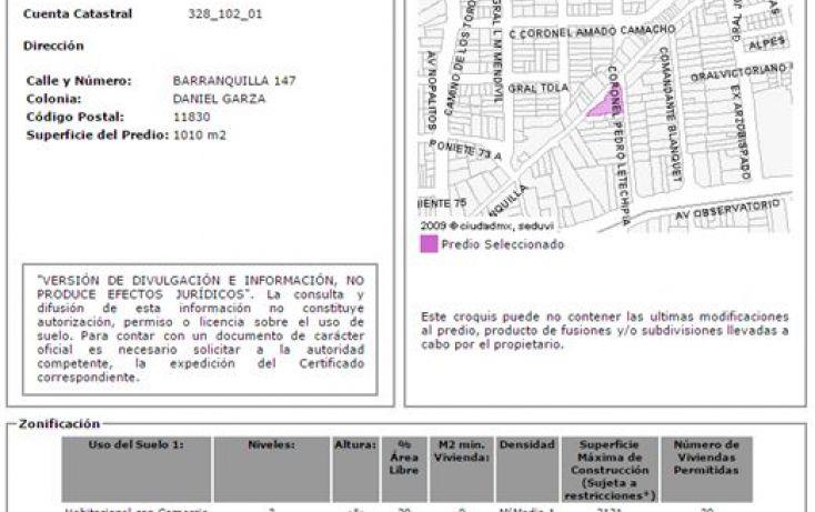 Foto de terreno comercial en venta en, daniel garza, miguel hidalgo, df, 1761106 no 01
