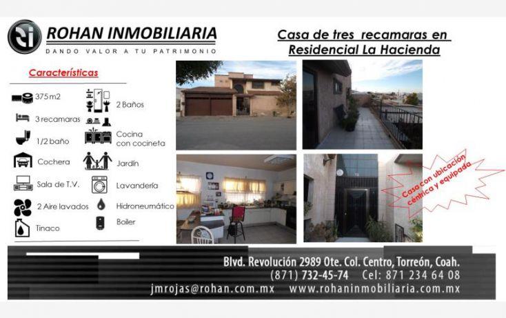 Foto de casa en venta en de la herradura 148, la hacienda oriente, torreón, coahuila de zaragoza, 1815708 no 01