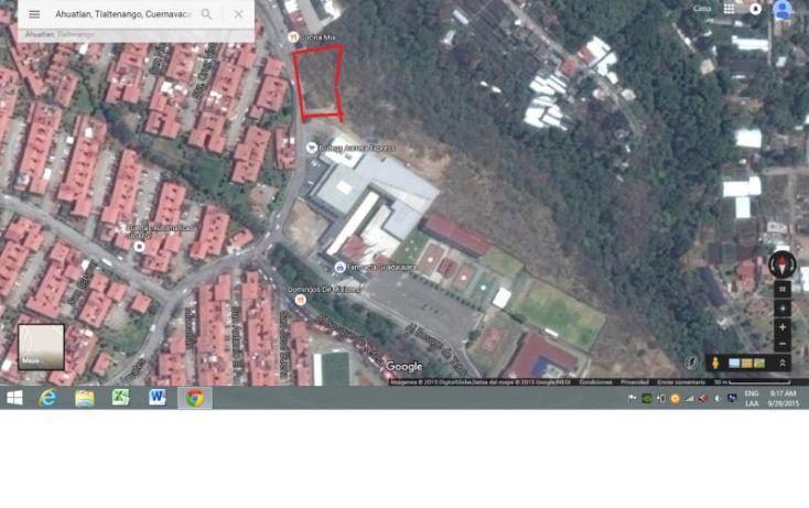 Foto de terreno habitacional en venta en de los amates 16, ahuatlán tzompantle, cuernavaca, morelos, 1546832 no 01