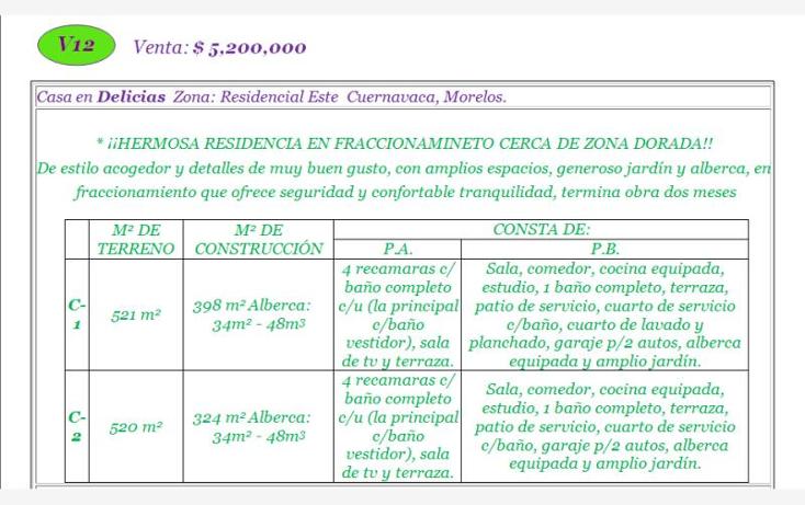 Foto de casa en venta en  -, delicias, cuernavaca, morelos, 620598 No. 02