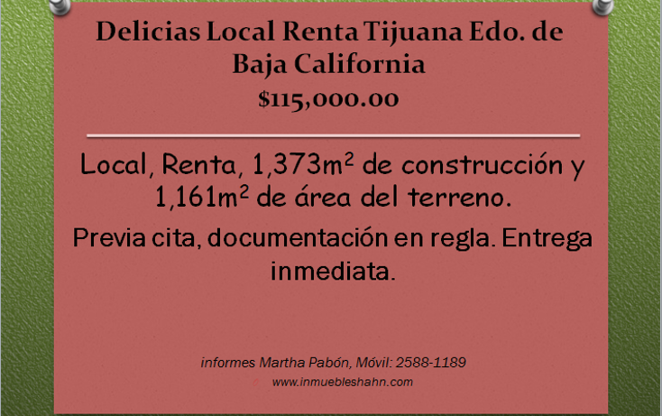 Foto de local en renta en  , delicias, tijuana, baja california, 1087621 No. 01