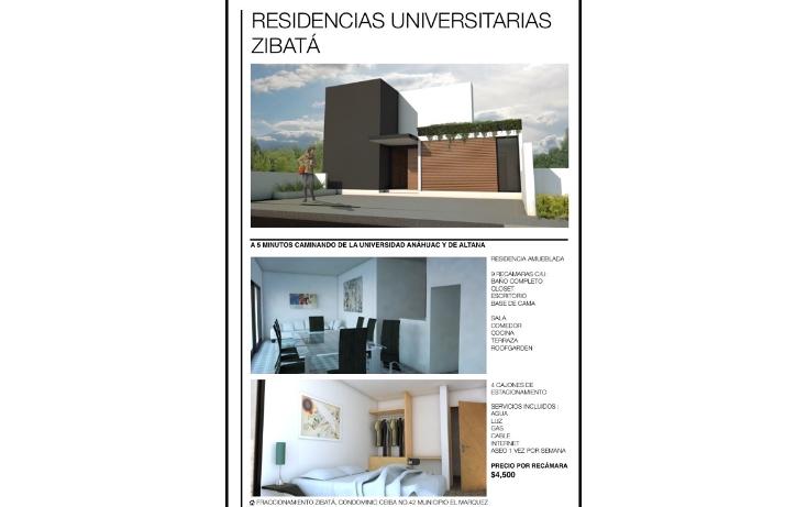 Foto de departamento en renta en  , desarrollo habitacional zibata, el marqués, querétaro, 1198227 No. 01