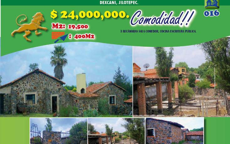 Foto de rancho en venta en  , dexcani alto, jilotepec, méxico, 1974725 No. 01