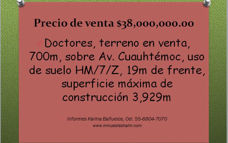 Foto de edificio en venta en  , doctores, cuauhtémoc, distrito federal, 1861428 No. 01