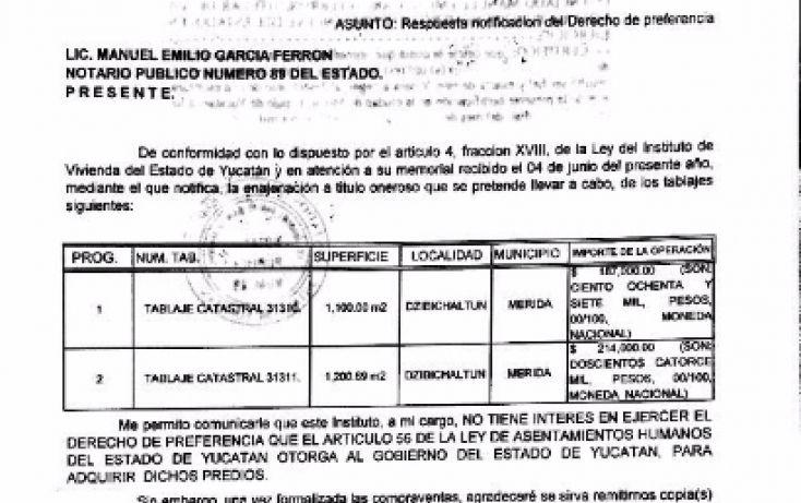 Foto de terreno habitacional en venta en, dzibilchaltún, mérida, yucatán, 1983600 no 03