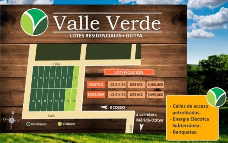 Foto de terreno habitacional en venta en  , dzitya, mérida, yucatán, 1102537 No. 01