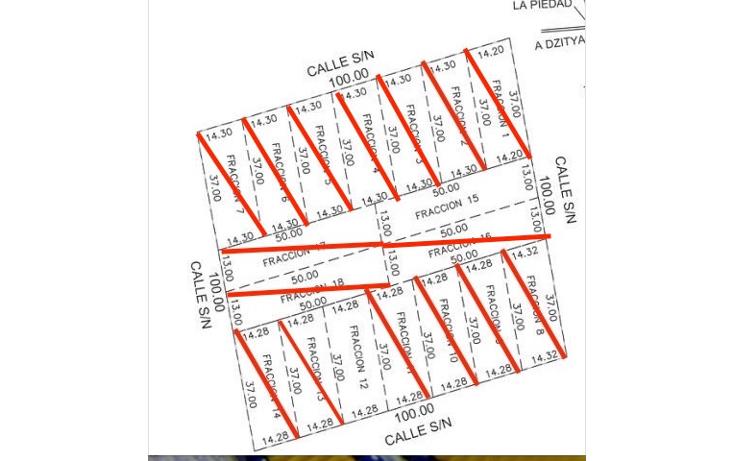 Foto de terreno habitacional en venta en  , dzitya, mérida, yucatán, 1248673 No. 01