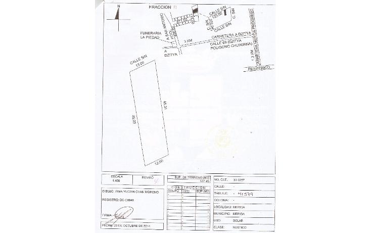 Foto de terreno habitacional en venta en  , dzitya, mérida, yucatán, 1258723 No. 01