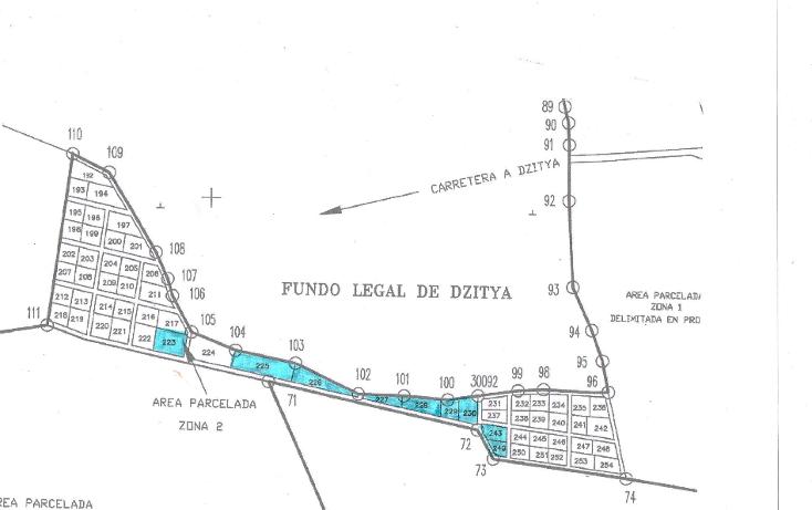 Foto de terreno habitacional en venta en  , dzitya, mérida, yucatán, 1269061 No. 03
