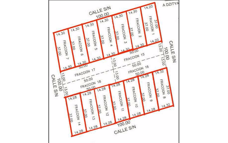 Foto de terreno habitacional en venta en  , dzitya, mérida, yucatán, 1286969 No. 03