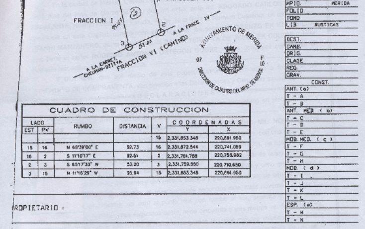 Foto de terreno habitacional en venta en, dzitya, mérida, yucatán, 1340697 no 06