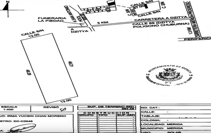 Foto de terreno habitacional en venta en, dzitya, mérida, yucatán, 1556354 no 08
