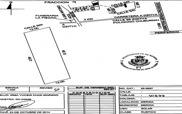 Foto de terreno habitacional en venta en, dzitya, mérida, yucatán, 1556354 no 10
