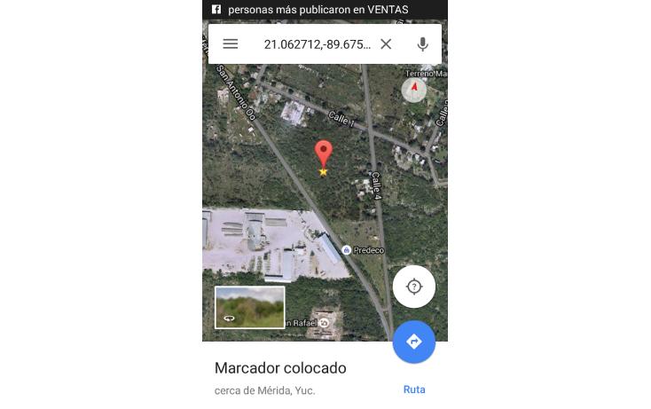 Foto de terreno habitacional en venta en  , dzitya, mérida, yucatán, 1723732 No. 02