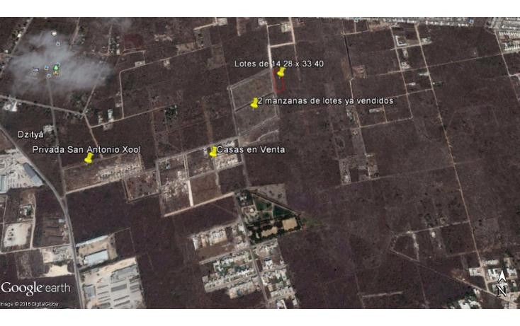 Foto de terreno habitacional en venta en  , dzitya, mérida, yucatán, 1769036 No. 04