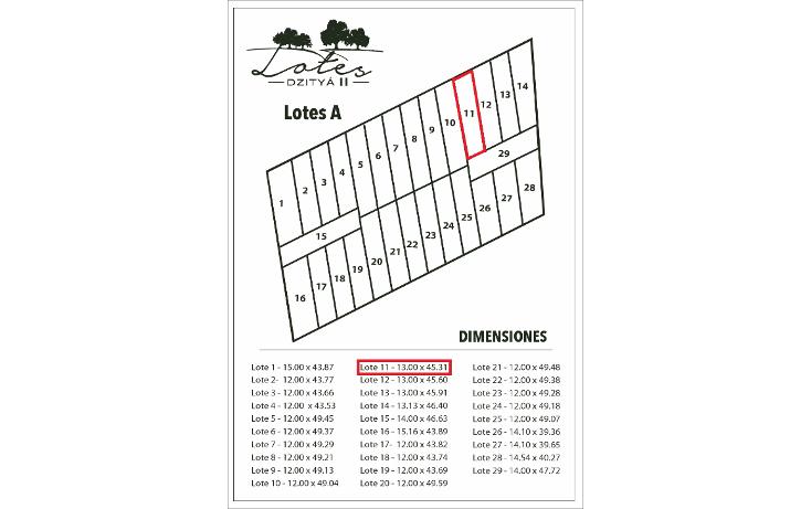 Foto de terreno habitacional en venta en  , dzitya, mérida, yucatán, 1778050 No. 02
