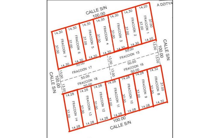Foto de terreno habitacional en venta en  , dzitya, m?rida, yucat?n, 1811358 No. 02