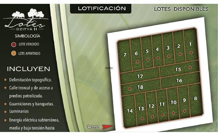 Foto de terreno habitacional en venta en  , dzitya, mérida, yucatán, 737691 No. 02