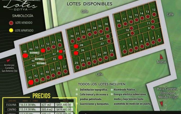 Foto de terreno habitacional en venta en, dzitya, mérida, yucatán, 878527 no 01