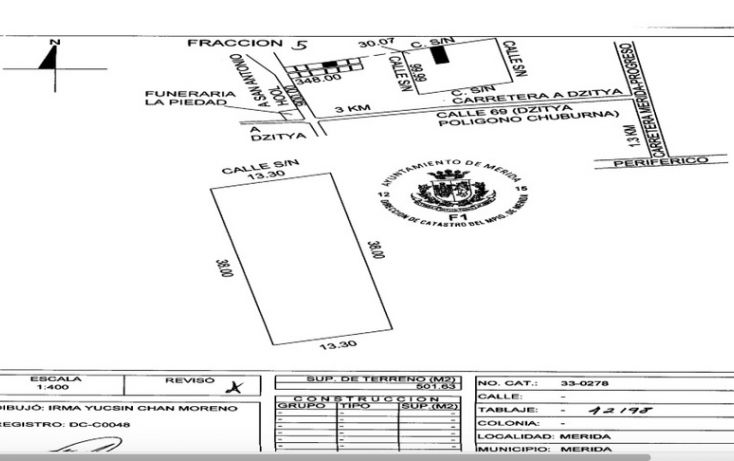 Foto de terreno habitacional en venta en, dzitya, mérida, yucatán, 878527 no 03