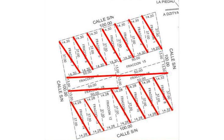 Foto de terreno habitacional en venta en  , dzitya, mérida, yucatán, 878527 No. 03