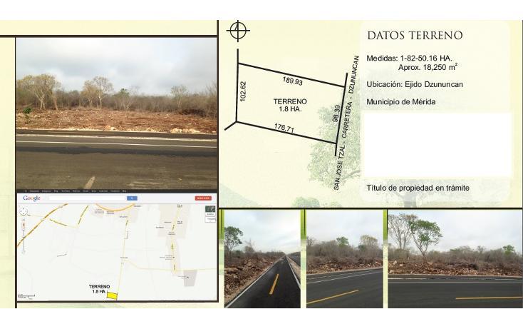 Foto de terreno habitacional en venta en  , dzununcan, motul, yucatán, 1044463 No. 01