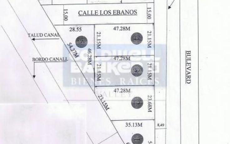 Foto de terreno habitacional en venta en ebanos, palo blanco ejido, reynosa, tamaulipas, 580821 no 01