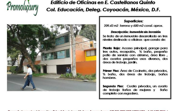 Foto de edificio en venta en, educación, coyoacán, df, 1824790 no 01