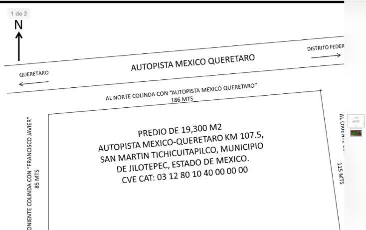 Foto de terreno comercial en venta en  , ejido de jilotepec, jilotepec, méxico, 1717962 No. 02