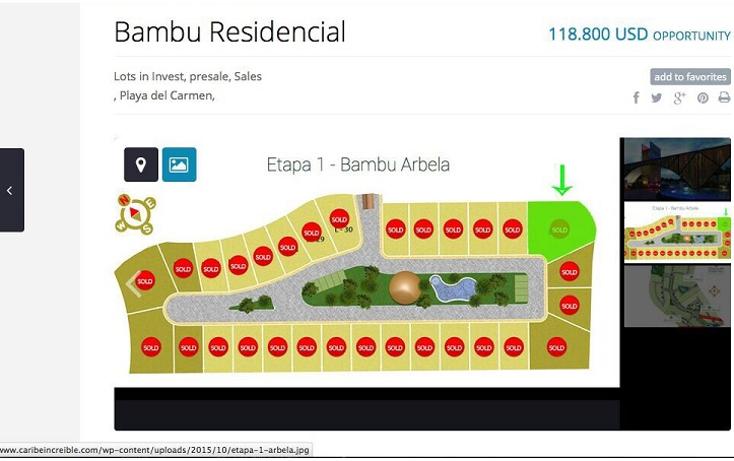 Foto de terreno habitacional en venta en  , el bamb?, solidaridad, quintana roo, 1600350 No. 03