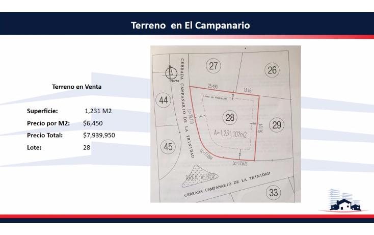 Foto de terreno habitacional en venta en  , el campanario, querétaro, querétaro, 2035886 No. 01