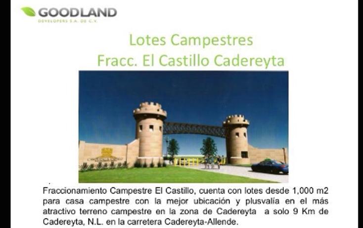 Foto de terreno habitacional en venta en  , el castillo, cadereyta jiménez, nuevo león, 1619542 No. 01