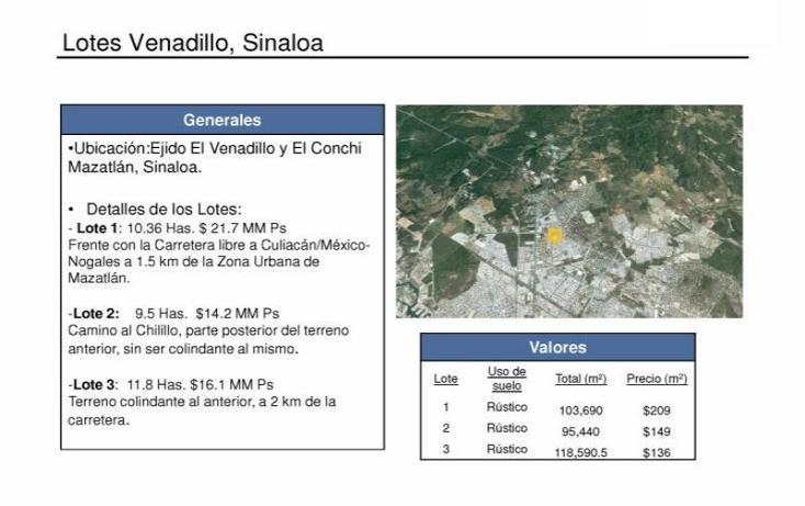 Foto de terreno habitacional en venta en el chilillo 0, el chilillo, mazatlán, sinaloa, 2646372 No. 01