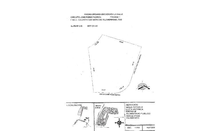 Foto de terreno habitacional en venta en  , el country, centro, tabasco, 1283927 No. 01