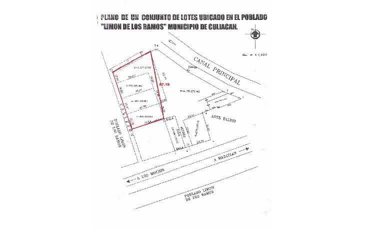 Foto de terreno habitacional en venta en  , el limón de los ramos, culiacán, sinaloa, 1124017 No. 01