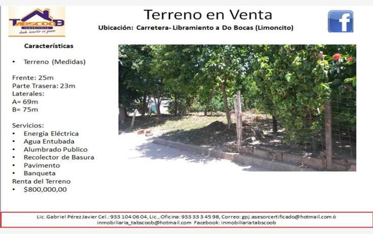 Foto de terreno comercial en venta en  , el limoncito, paraíso, tabasco, 1787996 No. 01