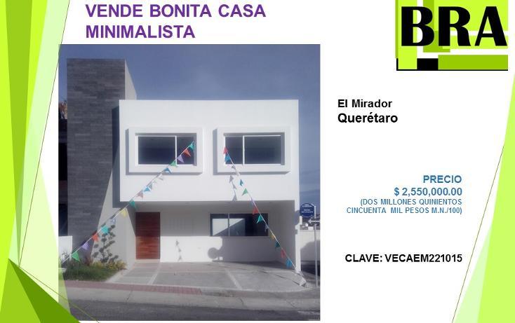 Foto de casa en venta en  , el mirador, el marqu?s, quer?taro, 1453611 No. 01