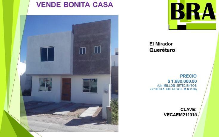 Foto de casa en venta en  , el mirador, el marqués, querétaro, 1478259 No. 01