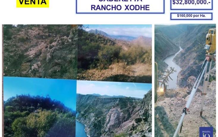 Foto de terreno comercial en venta en el palmar - rancho xodhe 1, centro, cadereyta de montes, quer?taro, 761557 No. 02