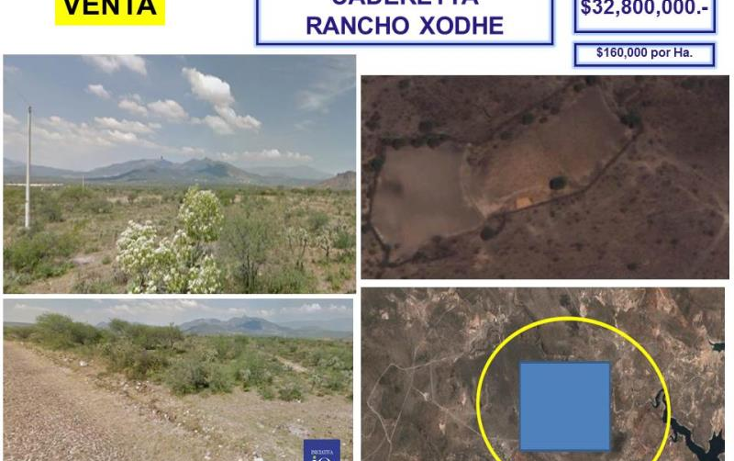 Foto de terreno comercial en venta en el palmar - rancho xodhe 1, centro, cadereyta de montes, quer?taro, 761557 No. 03
