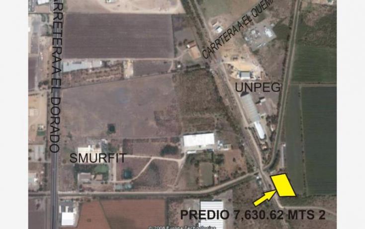 Foto de terreno comercial en venta en, el quemadito, culiacán, sinaloa, 877425 no 01